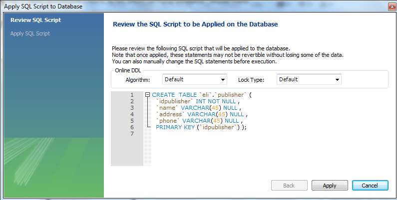 Tables create alter drop table with mysql workbench - Alter table sql server example ...