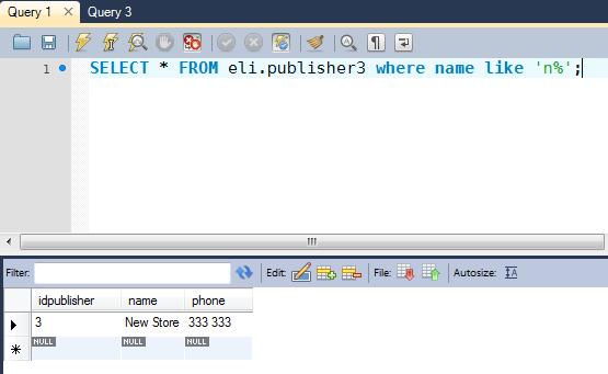 SQL LIKE operator video tutorial